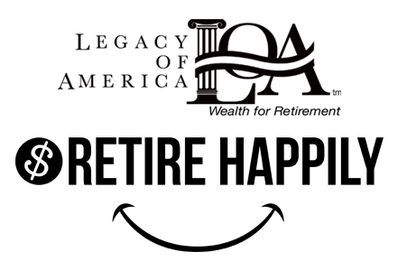Legacy of America and Retire Happily Together Logo